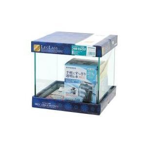 水槽フレームの無いすっきりデザインの小型キューブ水槽コトブキ工芸 kotobuki クリスタルキュー...