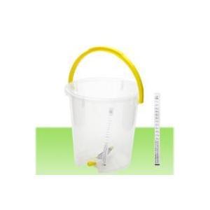 便利なコック付コック付き バケツ 6リットル:特長:水槽のなかに少しずつ水を入れたいときに便利なコッ...