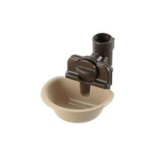 お皿で自動給水リッチェル ペット用ウォーターディッシュ S ブラウン:対象:超小型犬、小型犬、猫適応...
