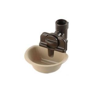 お皿で自動給水リッチェル ペット用ウォーターディッシュ M ブラウン:対象:小型犬、中型犬、猫適応可...