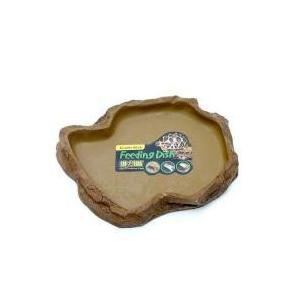 フィーディングディッシュ L自然の岩をイメージしたテラリウムにぴったりな爬虫類・両生類用のえさ皿です...