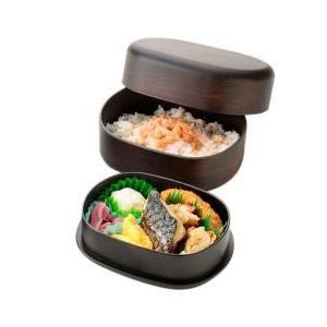 石川県は加賀、山中塗の職人技術がいきるわっぱ風2段弁当箱です。 丈夫、コンパクト、愛らしい形状が魅力...