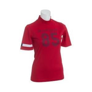 ウェアLady 半袖シャツ・ポロシャツ トミー ヒルフィガー ゴルフ 85ロゴがTHらしいモックネッ...