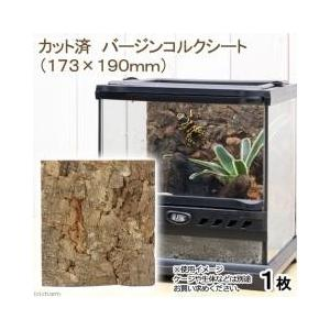 ガーデニングに・爬虫類ケージの壁紙にカット済 バージンコルクシート(173×190mm):特長:植物...