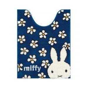 miffy / トイレ用品 / ミッフィー フラワーダンス ロングトイレマット 約80×60cm ブ...