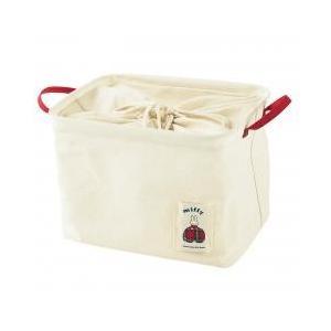 ミッフィーのランドリーバッグ。 布団バサミなどのバラバラしがちな洗濯物干し道具や、パッケージを隠して...