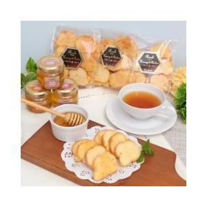 サクサク食感と上品な甘さのはちみつラスクと人気の国産蜂蜜がセットになったギフトセットです。 蜂蜜3種...