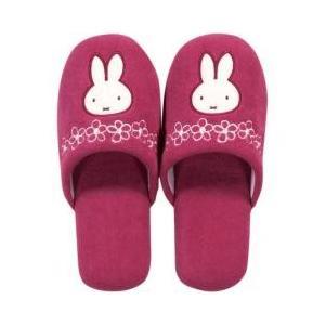 miffy / トイレ用品 / ミッフィー フローラル スリッパ ピンク 洗える かわいい キャラク...