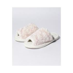 Cocoonistロゴ入りのふわふわ素材のスリッパです。内側にはさらりとしたパイル素材を使用している...