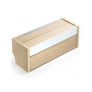 収納ボックス・保存ボックス / ケーブルボックス スマホスタンド機能 木目柄 ライトブラウン 200...