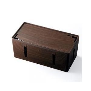 収納ボックス・保存ボックス / 木目調 ケーブルボックス 電源タップ コード 収納ボックス 200-...
