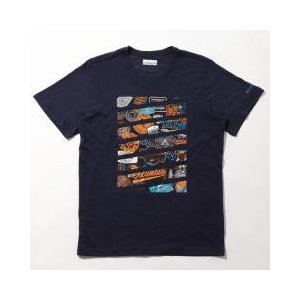 速乾性のあるプリントTシャツ。ブランドロゴをモチーフにしたグラフィックがポイント。