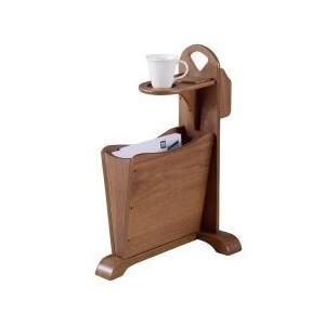 便利機能を追及したサイドテーブル 関連キーワード:シンプル おしゃれ スリム ナチュラル 茶色 ブラ...