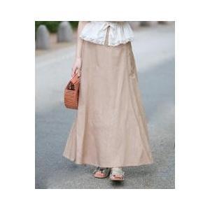 裾に向かって広がるマーメイドデザインの女性らしいシルエットで、スタイルアップも叶う1枚。ウエスト後部...