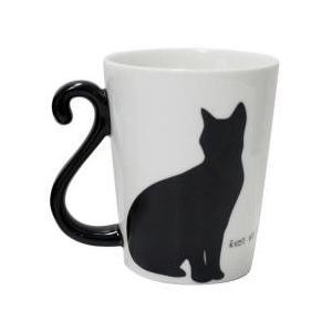 グラス・コップ・タンブラー / マグカップ 300ml 黒猫 磁器製 食器 メス
