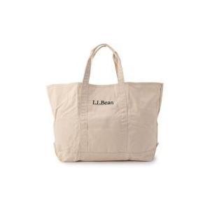 L.L.Beanロゴ入りのグローサリー・バッグ。薄手のキャンバスは、折りたためるソフトな素材となって...