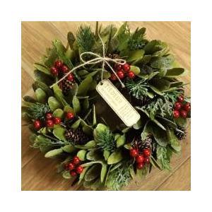 クリスマスインテリアとしておすすめアート素材でできたクリスマスリースです。