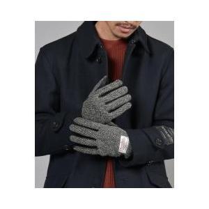 シップス / 手袋 / SHIPS JET BLUE: ハリスツイード レザーグローブお取り寄せ商品