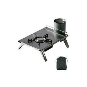 ガス缶は別売りです。従来アウトドア用のバーナーはガスカートリッジの真上に装着するタイプ、ホースで連結...