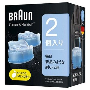 ブラウン BRAUN アルコール洗浄液 クリーン&リニュー交換カートリッジ 2個入り メンズシェーバ...