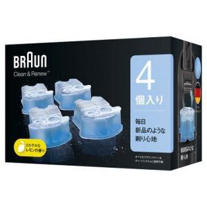 ブラウン BRAUN アルコール洗浄液 クリーン&リニュー交換カートリッジ 4個入り メンズシェーバ...