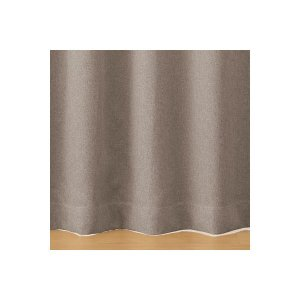 SALE/ 無印良品 ポリエステルドビー織(防炎・遮光性)プリーツカーテン/ベージュ 幅100×丈1...
