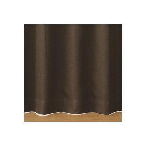 SALE/ 無印良品 ポリエステルドビー織(防炎・遮光性)プリーツカーテン/ダークブラウン 幅100...
