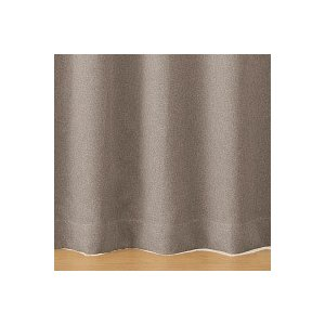 SALE/ 無印良品 ポリエステルドビー織(防炎・遮光性)プリーツカーテン/ベージュ 幅100×丈2...