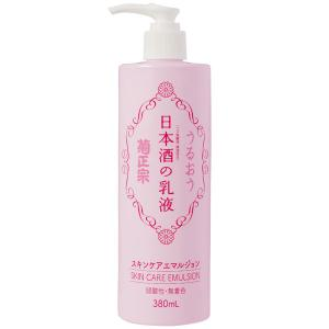 日本酒成分(コメ発酵液)を配合した大容量乳液。しっとりとした使い心地はそのままに、3種のセラミドを配...