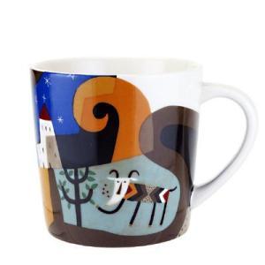 重量感のあるマグカップにカルディコーヒーファーム店舗でご用意している紙手提げと同じ、『カルディ伝説』...