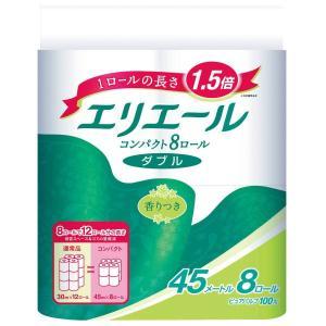 トイレットペーパー 8ロール入 パルプ ダブル 45m リラックス感のある香り エリエールトイレット...