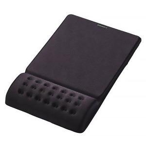 手首の疲労を軽減するリストレスト一体型のマウスパッドです。低反発ポリウレタンを採用したリストレスト部...
