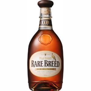 『ワイルドターキー レアブリード』6,8,12年の原酒をブレンド後、一切、加水をしないカスクストレン...