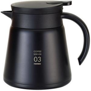 コーヒーの温度をキープする二重構造ステンレス製コーヒーサーバー。真空断熱二重構造となっておりますので...