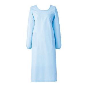 KAZENのエプロン・予防衣(長袖)です。白衣・介護ユニフォームの通販はアスクル。制菌加工 KAZE...