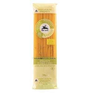 イタリア産の有機トウモロコシ粉と有機米粉から作られた、小麦を使用していないスパゲッティ。小麦不使用の...