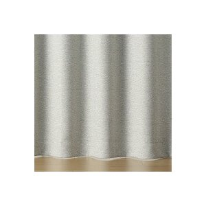 SALE/ 無印良品 ポリエステル二重織プリーツカーテン(防炎・遮光性)/杢ライトグレー 幅100×...
