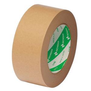 ニチバンの段ボール包装用クラフトテープ黄土軽い巻き戻しで作業性に優れます。無溶剤タイプの粘着剤による...