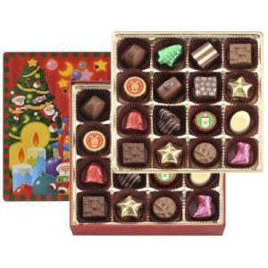 クリスマスオリジナルデザインの缶パッケージにクリスマスらしいファンシーチョコレートを詰合せました。 ...