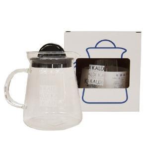 カルディオリジナル 耐熱ガラス製のスタイリッシュなサーバーで、杯数メモリがコーヒー豆柄なのもとっても...
