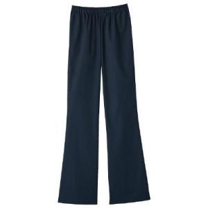 総ゴム、両脇ポケット付の女性専用ブーツカットパンツです。スクラブとコーディネートしてください 吸水効...
