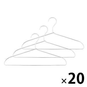 まとめ買いセット/無印良品 アルミ洗濯用ハンガー・3本組 20個セット 15915613 良品計画 ...