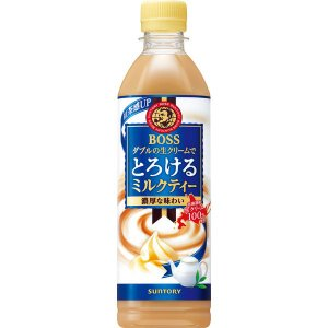 ボス とろけるミルクティー 500ml 1箱(24本入) 紅茶(ペットボトル)