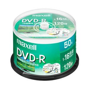 録画用DVDR CPRM対応 50枚 スピンドル ワイドプリント ひろびろ美白レーベル 録画用DVD...