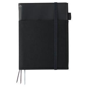 ノートやスケジュール帳などを2冊まとめて収容できるカバーノート。リングノートをはじめ、厚手のノートや...