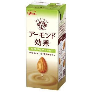グリコ アーモンド効果 砂糖不使用 まろやかコーヒー 200ml 1箱(24本入) 豆乳・植物性ミル...