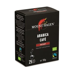 マウント ハーゲンのオーガニックコーヒーは、焙煎コーヒーもインスタントコーヒーも伝統的有機農法で栽培...