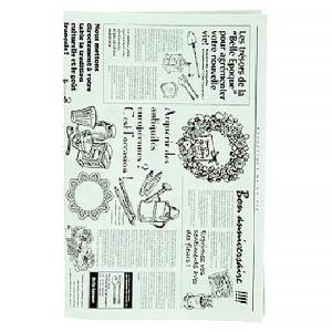 英字新聞のようなフランス語のプリント包装紙です。本物の古紙を使った再生紙で、強度があり、軽量である事...