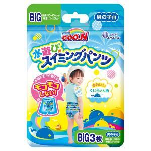 エリエールのグーンスイミングパンツビッグサイズは水遊び用の使いきりタイプ水着。紙おむつと違って水にぬ...