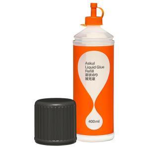アスクルオリジナルの液体のり補充液は、国内一流メーカー製造の確かな品質でしっかり貼れる補充液をくり返...